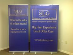 Retractable banner stands come in a variety of sizes!