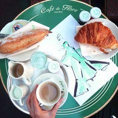 "Kerrie Hess Illustrator on Instagram: ""Paris breakfasts be like... ☕"""