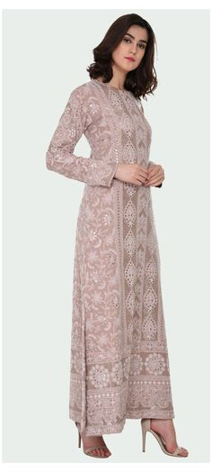 Indian Gowns Dresses, Pakistani Dresses, Indian Wedding Outfits, Indian Outfits, Indian Attire, Indian Wear, Chikankari Suits, Lucknowi Suits, Indian Designer Suits