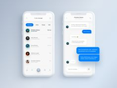 Messenger designed by Filip Legierski for Riotters. Connect with them on Dribbble; Ui Design Mobile, App Ui Design, Interface Design, User Interface, Mobile Chat App, Mobile Web, Blur, Android App Design, Clean Web Design