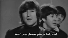 gif the beatles help Paul McCartney john lennon ringo starr george harrison help!