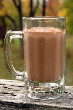 Gluten-free & dairy-free diet chocolate pumpkin spice milkshake. And recipe for the chia cubes: gluten-free-blog....
