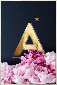 Flower Alphabet A by neon* fotografie as Poster in Aluminium Frame Alphabet A, Flower Alphabet, Galaxy Wallpaper, Wallpaper Backgrounds, Iphone Wallpaper, Art Mural, Wall Art, Poster Shop, Stylish Alphabets