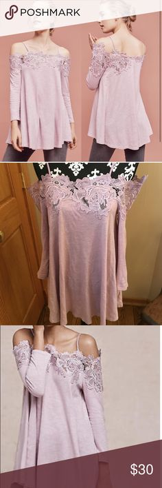 Meadow Rue Off the shoulder lace top Size small, runs big IMO. worn once Anthropologie Tops