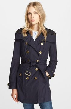 Burberry Brit 'Reymoore' Trench Coat with Detachable Hood available at #Nordstrom