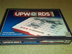Upwords Deluxe Word Building Board Game 3D Electronic Scoring & Timer VGC AGE 8+