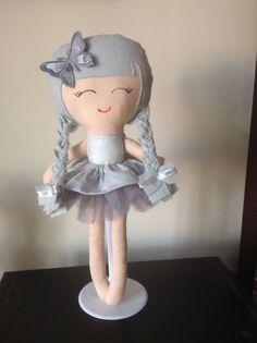 Handmade Silvie Doll Fairy frost dress with silver Tutu skirt
