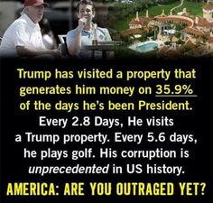 Everybody staying there has to pay--for rooms, food, golf carts for his whole team including security. The money goes directly from the taxpayer to trump's pocket.