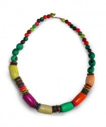 """Floreana Necklace by The Andes Fashion from Mini collection """"Galapagos Kaleidoscope"""" available at www.jpselects.com"""