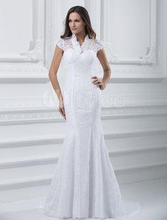 #Milanoo.com Ltd          #Wedding Dresses          #Glamorous #White #Lace #Mermaid #Wedding #Dress #Bride                       Glamorous White Lace Mermaid Wedding Dress For Bride                                                    http://www.seapai.com/product.aspx?PID=5681083