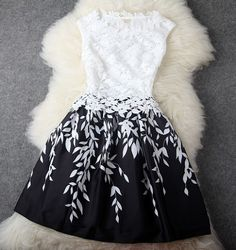 Black and White Dress #136