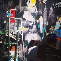 Behind the wall painting with Mamafaka at Adidas Originals Shop #mamafaka #mmfk @mamafaka @Marla Fraser-Knopp #adidas #adidasoriginalsshop #adidasthailand #siamcenter #wallpainting #visualart #art #instaplace #instaplaceapp #place #earth #world  #thailand #TH #pathumwan #siamcenterสยามเซ็นเตอร์ #art #movie #street #night