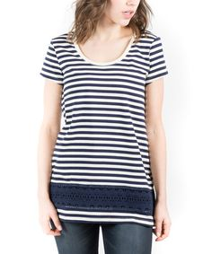 Loving this Navy Stripe West Coast Top on #zulily! #zulilyfinds