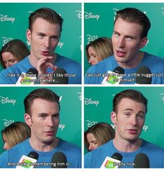 Chris Evans called Bucky Cap's nugget lol