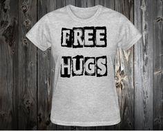 T-shirt graphic Free hugs shirt. cute shirt funny by Danielstees