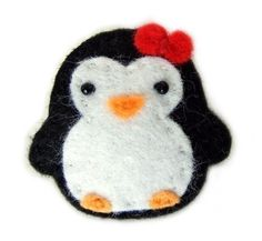 Made one like this today for my little penguin lover...attached it to her headband!