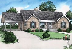 Houseplan 9035-00002 Simple House Plans, Southern House Plans, House Plans And More, Ranch House Plans, Best House Plans, Country House Plans, House Floor Plans, 1200 Sq Ft House, Traditional House Plans