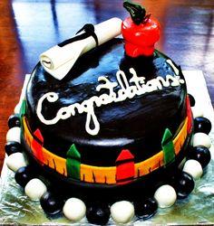 Teacher Graduation Cake  http://www.facebook.com/JennifersEdibleCreations