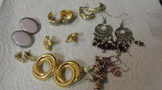 Great Lot of Vintage Pierced Earrings #Pierced