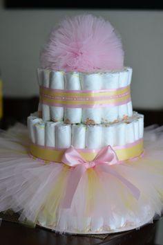 Tutu diaper cake I made!