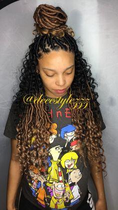 Girls hairstyles 2019 Box Braids Hairstyles, Protective Hairstyles, Protective Styles, Hair Afro, Curly Hair Styles, Natural Hair Styles, Hair Styles With Weave, Braids With Weave, Braids For Black Hair