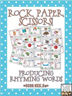 Fun game for practicing producing rhyming words! CC RF.K.2a
