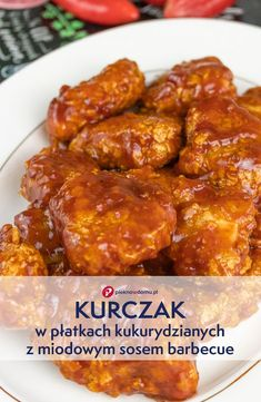 Chicken in cornflakes with honey barbecue sauce – Cooking Method New Recipes, Dinner Recipes, Cooking Recipes, Healthy Recipes, Honey Barbecue Sauce, Honey Sauce, Barbecue Chicken, Good Food, Yummy Food