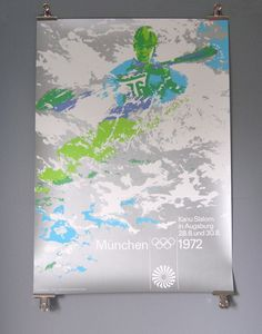 Canoeing Poster - Pre Xmas Sale, pay just 72% across the site with Discount Code: xmas72 www.1972municholympics.co.uk