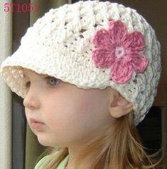 Gorros niñas crochet patron - Imagui