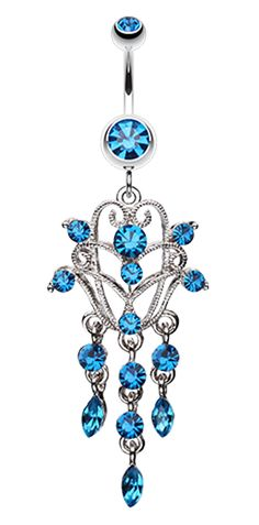 Chandelier Filigree Sparkle Belly Button Ring