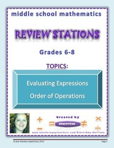 Middle School Math Stations