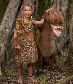 Maggie wants to be a cave woman for Halloween. This one looks easy and cute.