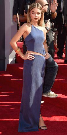 Sarah Hyland - Video Music Awards 2014 Red Carpet Arrivals - InStyle.com