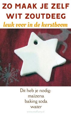 Wit zoutdeeg recept - Apocalypse Now And Then Pink Christmas Tree, Felt Christmas Decorations, Christmas Centerpieces, Christmas Time, Xmas, Christmas Ornaments, Salt Dough, Diy Embroidery, Diy Clay