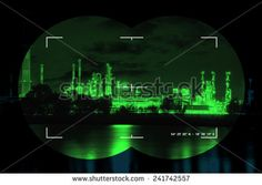 Chemical industry the threat of terrorism - Concept Photo.  - stock photo