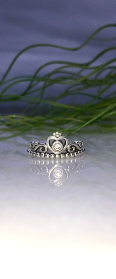 Cubic Zirconia Princess Ring Sterling Silver