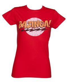 Red Ladies Big Bang Theory #Bazinga T-Shirt from TruffleShuffle xoxo