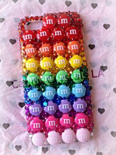 Jewels: rainbow iphone case iphone 4s case iphone 5 case cases studded iphone case cellphone case