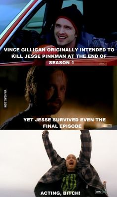 Haha I'm super glad they didn't kill Jesse... I would've been so mad!
