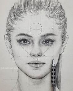 Art Discover Measurements drawing by Girl Drawing Sketches, Portrait Sketches, Art Drawings Sketches Simple, Portrait Art, Sketch Painting, Artist Painting, Drawing Portraits, Pencil Portrait, Realistic Pencil Drawings