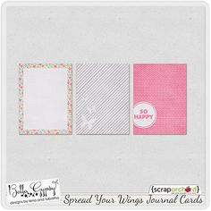 Printable -- Spread Your Wings Journal Cards from Bella Gypsy