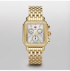 MICHELE® WATCHES Deco: Deco Day Gold Diamond, Diamond Dial MWW06P000100