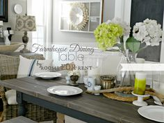 LOVE love love everything about this table; great project for reclaimed wood.  Farmhouse Dining Table