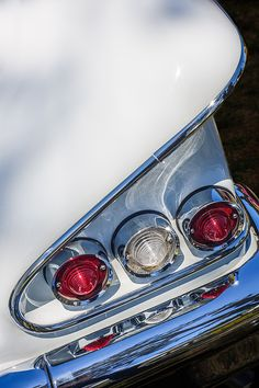 1958 Chevrolet Bel Air Convertible Tail Light by Jill Reger Chevrolet Bel Air, Chevrolet Impala, Retro Cars, Vintage Cars, Super Pictures, Best Car Insurance, Automobile, American Classic Cars, Car Photography