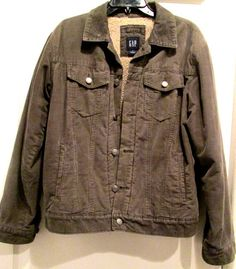 Vintage Olive Green Jacket with Sherpa Lining. by MISSVINTAGE5000