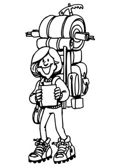 mountain climber coloring pages - photo#15