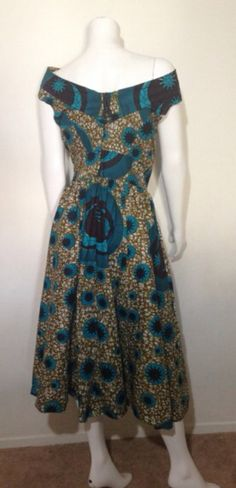 African Print Dress 100% VLISCO Wax Fabric by AGirlNamedGrey on Etsy