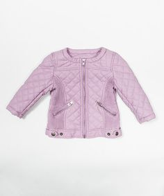 Another great find on #zulily! Lavender Faux Leather Jacket - Toddler & Girls by Trish Scully Child #zulilyfinds