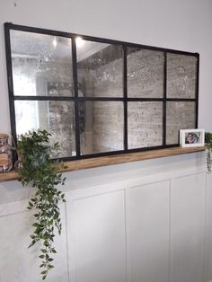 Pottery Barn Mirror, Spray Paint Wood, Simple Bed Frame, Diy Mirror, Window Mirror Decor, Window Pane Decor, Ikea Mirror Hack, Paint Stripper, Painting Tile Floors