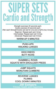 Super Sets: Strength and Cardio Workout